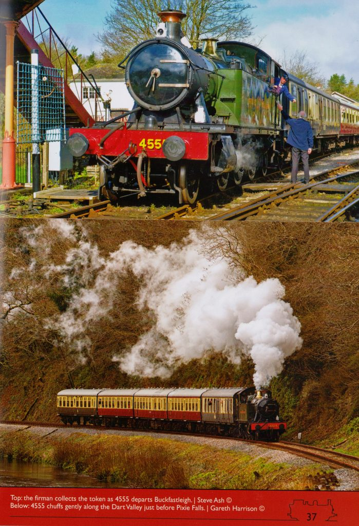 Prarie Steam locomotive 4555 published in Bulliver magazine